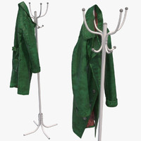 photorealistic leather coat tree 3d max
