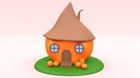pumpkin house 3d blend