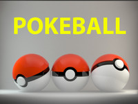 3d model of pokeball ball poke