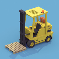 3d model forklift polys polygons