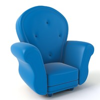 3d cartoon armchair