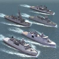 nato warships ship 3d 3ds