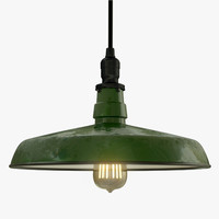 3d model industrial pendant light