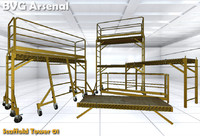 3d modular scaffold model