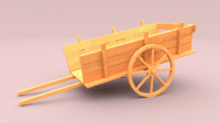 obj wooden cart
