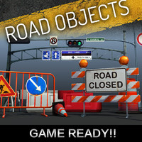 road objects pack 3d model