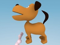 dog cartoon 3d max