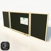 board chalkboard 3d model