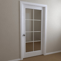 interior door - panel 3ds