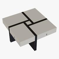 modern coffee table obj