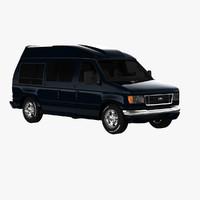 econoline comfort van 3d model