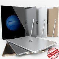 3d apple ipad pro wi-fi model