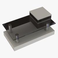 modern coffee table 1 obj