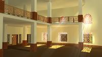 3d model architectural mosque