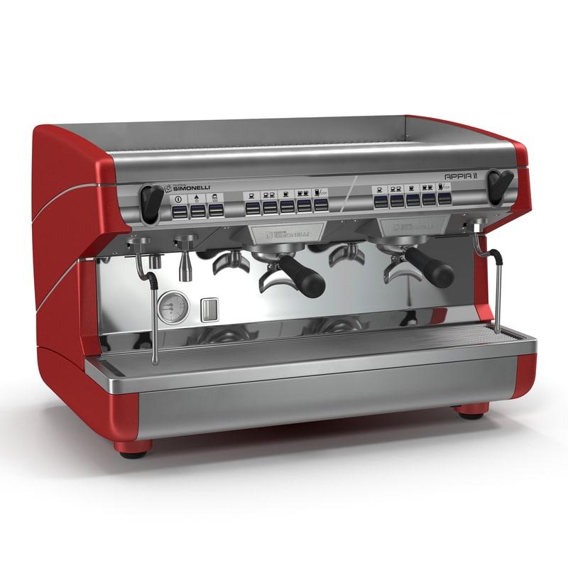 Espresso Machine Simonelli 3d model 02.jpg
