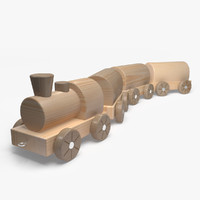 train wooden toy 3d max