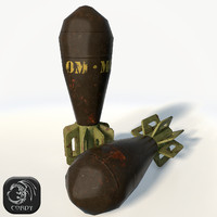 3d mortar shell model