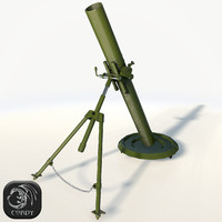 mortar 82mm 3d model