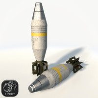 3d mortar shell