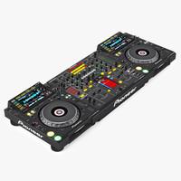 dj mixer pioneer djm-2000 3d model
