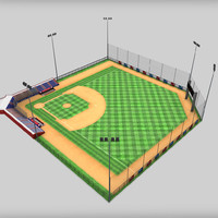 3d model of baseball stadium