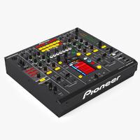 3d model mixer pioneer djm-2000