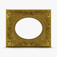 baroque picture frame 4 3d 3ds