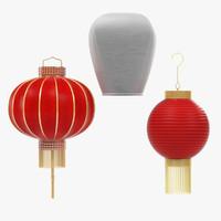 3d model chinese lanterns