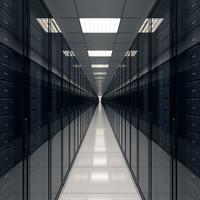 3d model hallway server realistic