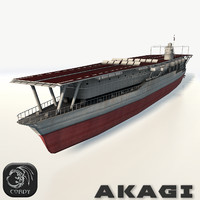 3d akagi aircraft carrier model