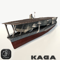 kaga aircraft carrier 3d obj