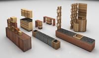 beauty salon furniture 3d model
