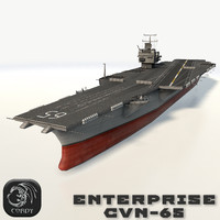 3d model uss enterprise cvn-65