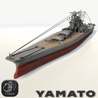 Battleship Yamato low poly