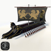 persian trireme 3d model