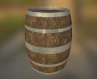 western styled barrel 3d obj
