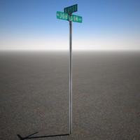 street sign 3d model