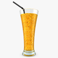 realistic smoothie passion 3d obj