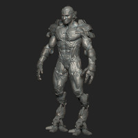 3d model of character zbrush
