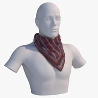 photorealistic kerchief mannequin bust obj