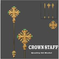 crown staff mace 3d max