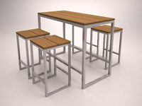 3d furniture bar model