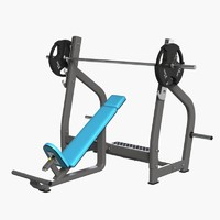 3d gym equipment bench press model