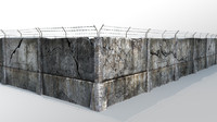 3d model of fence barbed wire