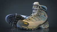 hiking boots obj