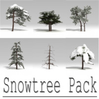 3d snowtree tree snow model