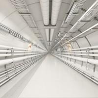 sci-fi 3 corridor 3d model