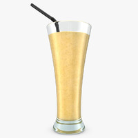 realistic smoothie banana 3d max
