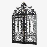 cast iron gate 3d max