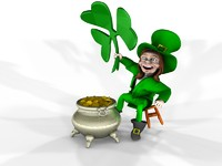 leprechaun shamrock 3d model